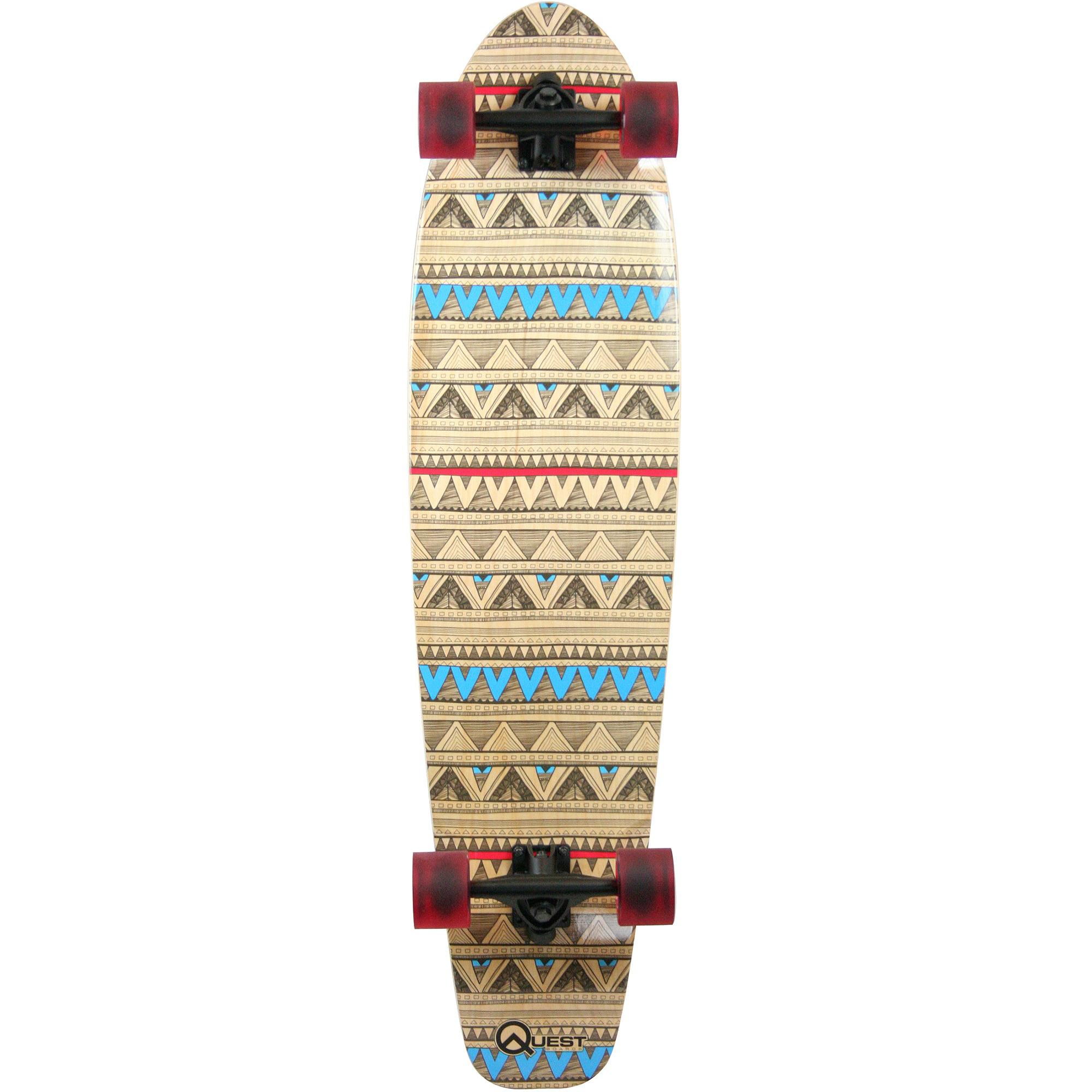"Quest 40"" Native Spirit Kick Tail Longboard Skateboard by Generic"
