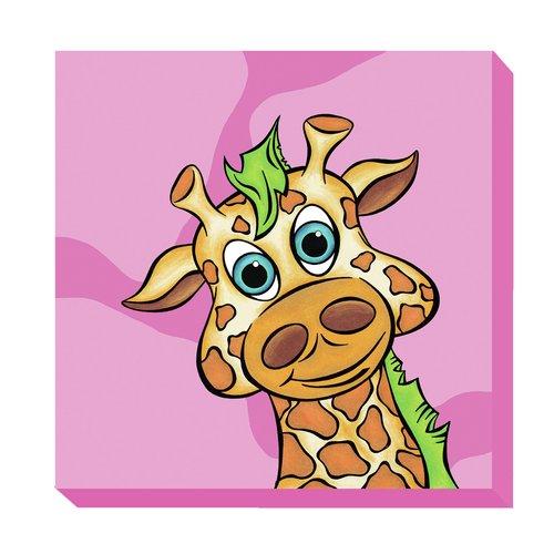 Kid Kusion Giraffe Zoo Baby Canvas Art