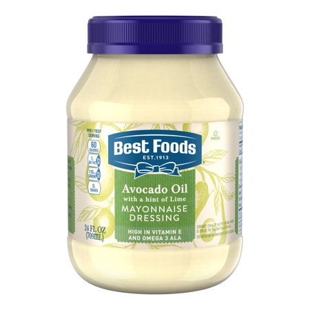 (2 Pack) Best Foods Mayonnaise Dressing Avocado Oil with a hint of Lime 24 (Best Way To Store Unused Avocado)