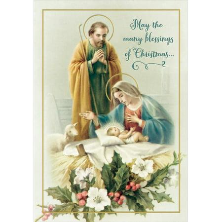 Designer Greetings Joseph, Mary and Jesus Box of 18 Religious ...