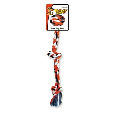 Mammoth Flossy Chews 3 Knot Rope Tug Dog Toy, X-Small ()