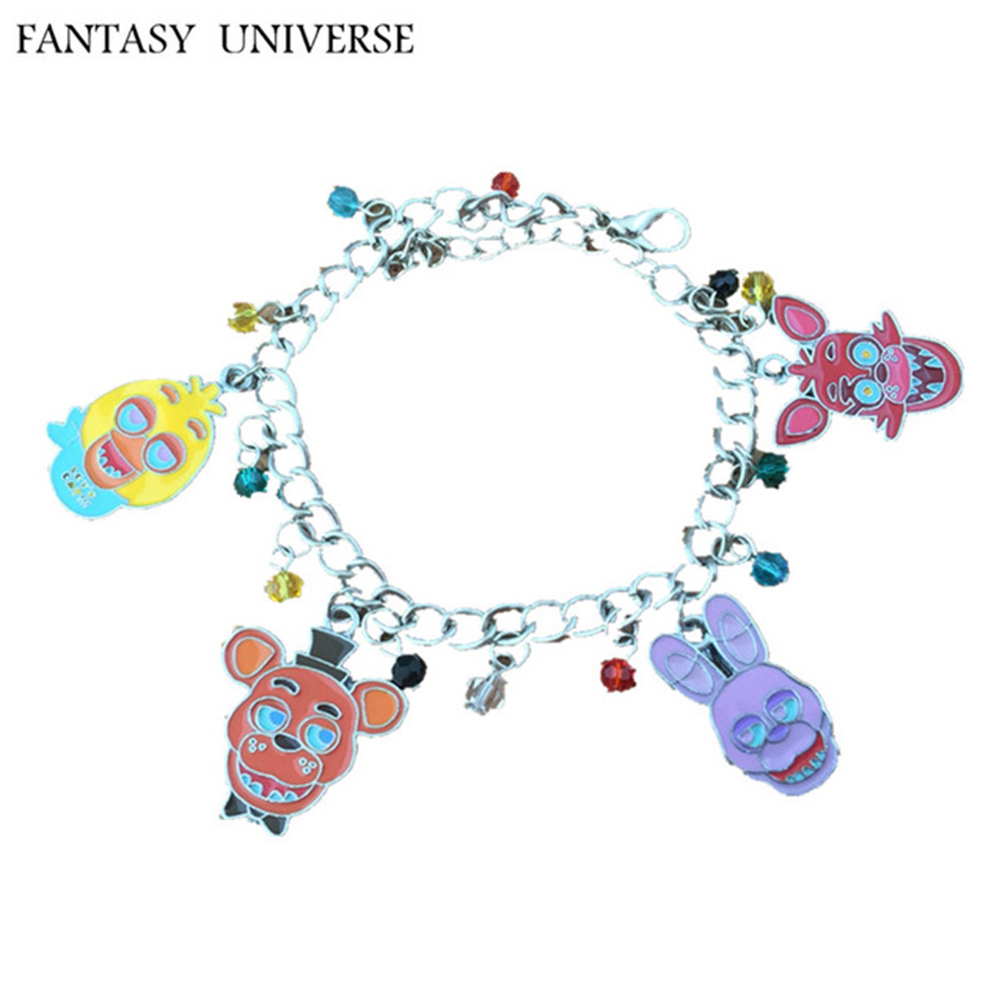 Five Nights At Freddie's 4 Charms Lobster Clasp Bracelet in Gift Box by Superheroes by