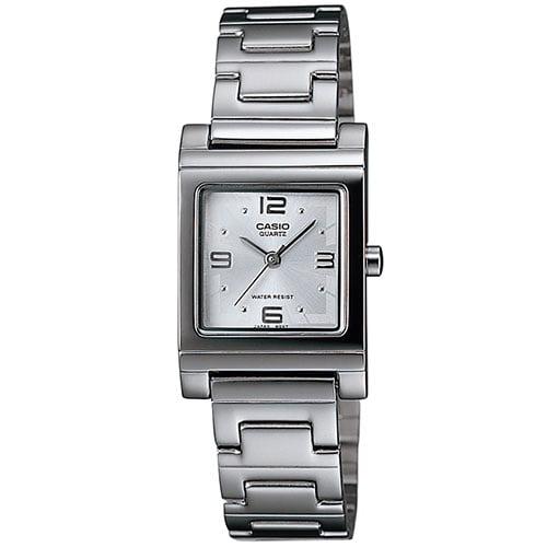 Casio Women's Casual Square Watch, White
