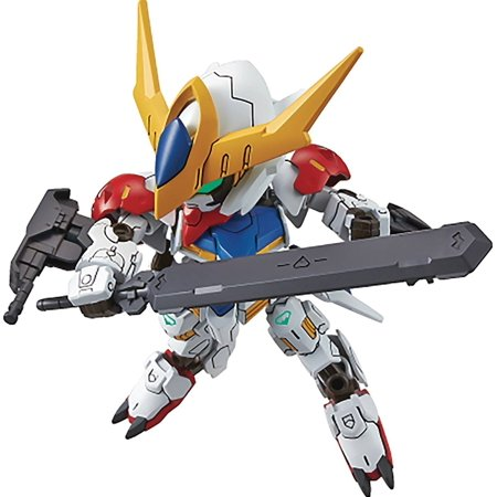Sd Ex Standard 014 Gundam Barbatos Lupus   Ibo  2Nd Season   Building Kit  Set Includes 1 Sword Mace And Two 200 Mm Caliber Guns On The Forearm By Bandai Hobby