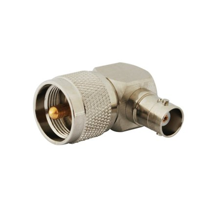 2pcs Rf Terminal Copper Alloy Connector Bnc-uhf Adapter Bnc Female to Uhf Plug Right Angle for Wireless Antenna Compact Uhf Wireless Plug In