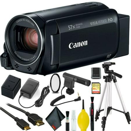 Canon VIXIA HF R800 Camcorder (Black) w/ 64GB Memory Card
