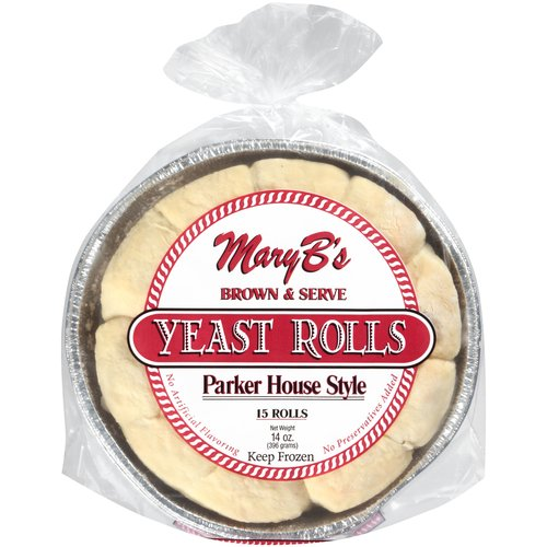 Mary B's Parker House Style Yeast Rolls, 15 count, 14 oz
