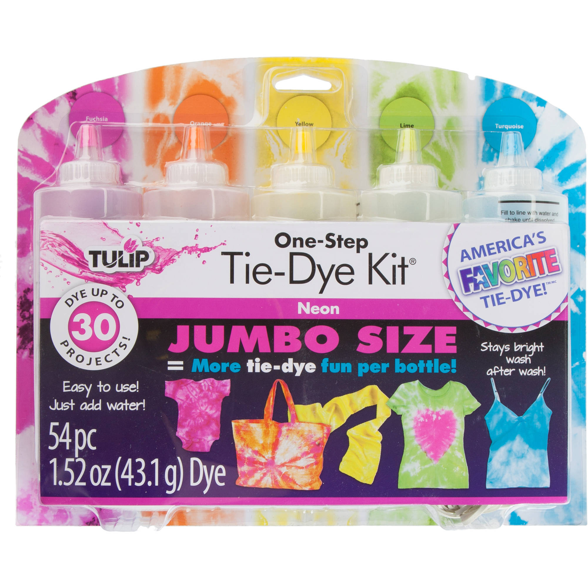 Tulip Neon Tie Dye Kit, 1 Each