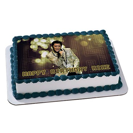 ELVIS PRESLEY Quarter Sheet Edible Photo Birthday Cake Topper. ~ Personalized! 1/4 Sheet ()