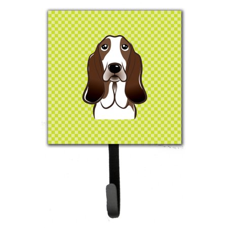 Caroline's Treasures Checkerboard Basset Hound Leash Holder and Wall Hook