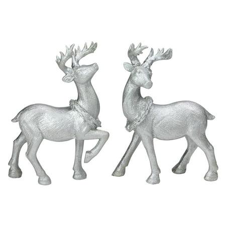 Northlight Christmas Table Top Reindeer Figures - Set of 2