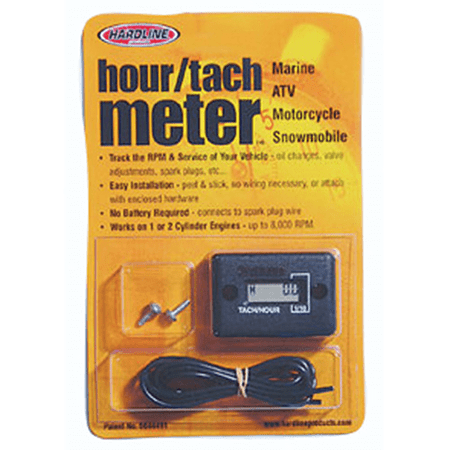 - Hardline Hour/Tach Meter for Any Gas Engine 2 Cylinders or Less