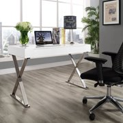 Modway Sector Office Desk with Stainless Steel Frame, Multiple Colors
