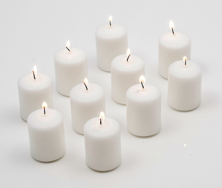 15 Hour White Votive Candles (Set of 144) by