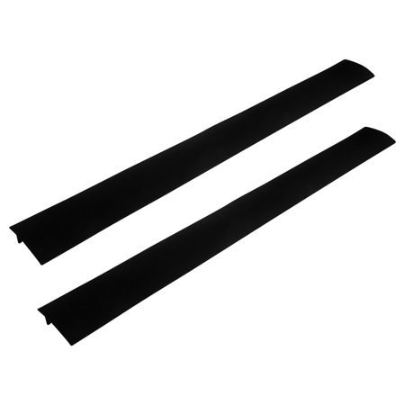 evelots silicone stove counter gap covers set of 2 black white or clear. Black Bedroom Furniture Sets. Home Design Ideas