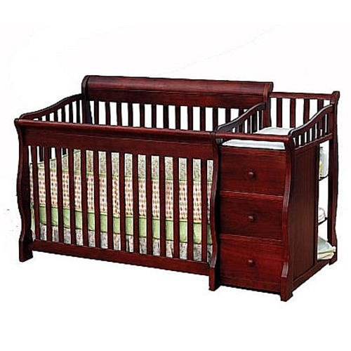 Sorelle Tuscany 4-in-1 Convertible Crib & Changer Combo Cherry by Sorelle
