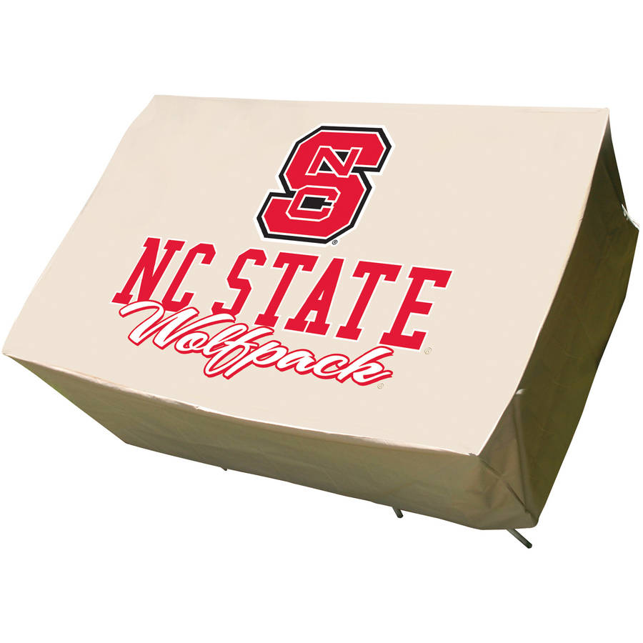 NCAA Mr. Bar-B-Q Rectangle Patio Table Cover, North Carolina State Wolfpack