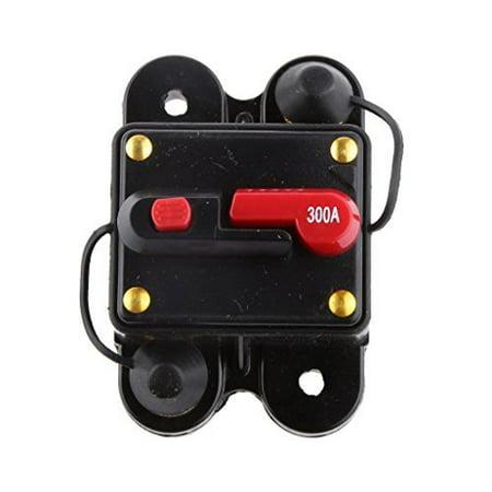 12V-24V Inline Auto Waterproof Circuit Breaker 300 AMP Manual Reset Switch