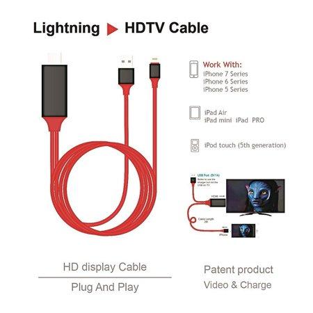 Sawpy Hdmi Hdtv Cable 1080p 2m 8 Pin Lightning To Tv Av Adapter