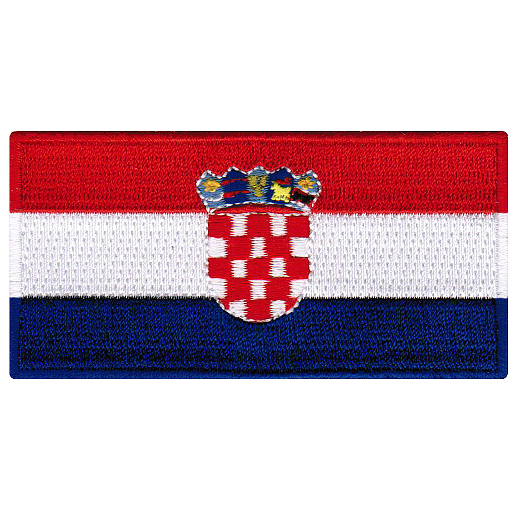 Croatia Flag Embroidered Iron-on Patch