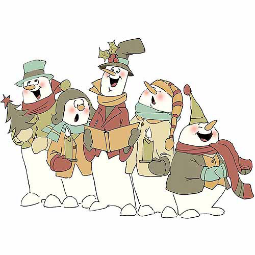Art Impressions Christmas Collection Cling Rubber Stamp, Jolly Carolers