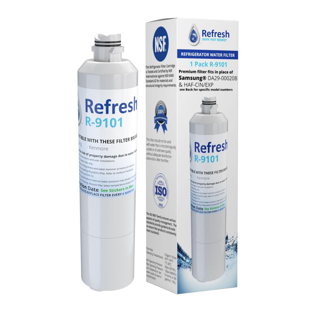 Replacement Water Filter For Samsung RF28HMEDBSR RF28HFEDBSR RF263BEAESR RF28HDEDBSR