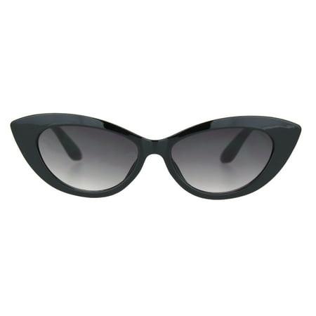 Womens Oval Gothic Mod Cat Eye Plastic Fashion Sunglasses Black (Mod Fashion For Women)