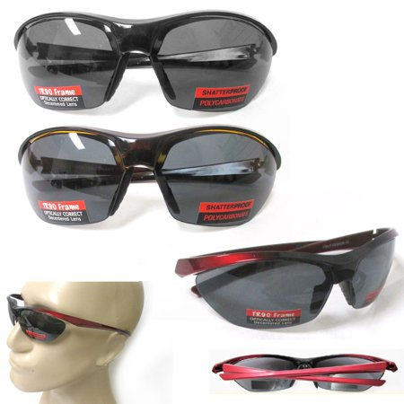 2 Pair Sunglasses Wrap Men Sport Running Fishing Golfing Driving Cycling - Running With Glasses