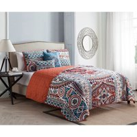 Natasha 4 Piece Reversible Quilt Set