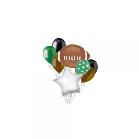 Football Balloon Bouquet Set - Sports Super Bowl Tailgate Party Decorations Supplies 8pc by DecorationTime