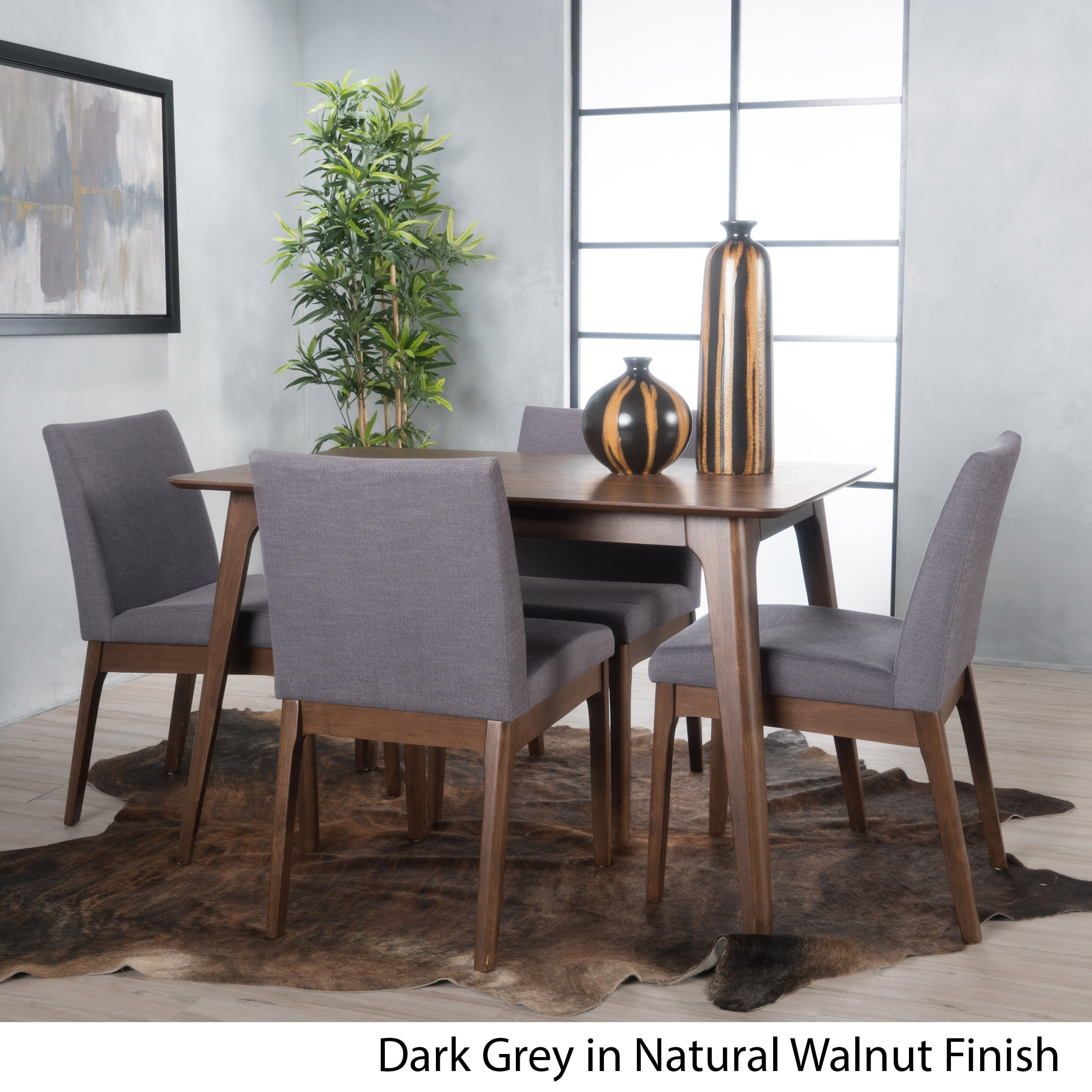 Christopher Knight Home Kwame Mid-century 5-piece Square Dining Set by