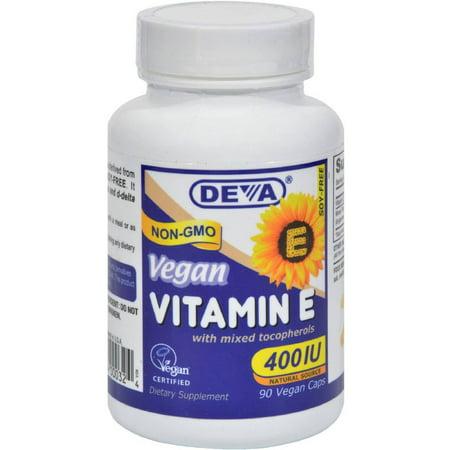 Deva Vitamine E 400 UI, des tocophérols mélangés, 90 CT
