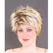 Star Power Short Punk Rockstar Adult Costume Wig, Blonde, One Size