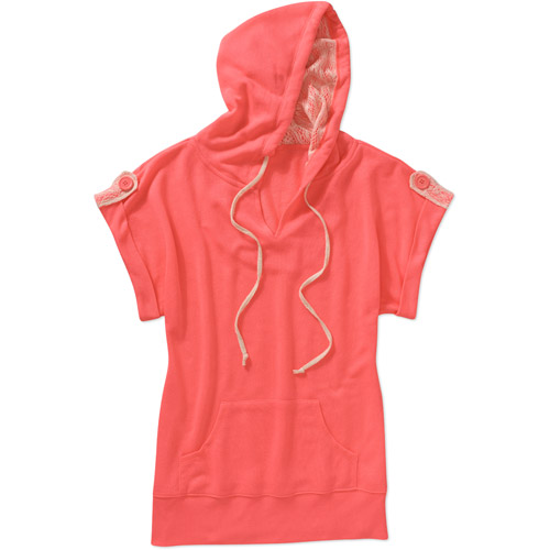 Miss Chievous Juniors Short Tab Sleeve French Terry Hoodie