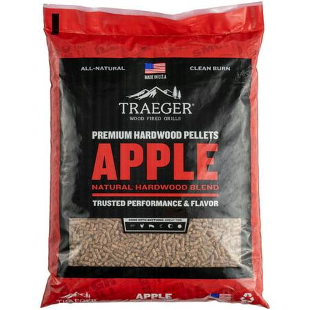 Traeger Apple Hardwood BBQ Pellets, 20lbs