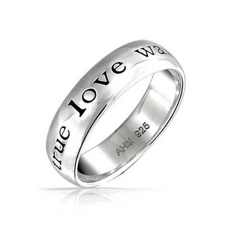 True Love Waits Purity Ring in Black Plated Titanium. S Sterling Silver True Love Waits Infinity Criss Cross Rings for Women Lady. by Silver Light Jewelry. $ $ 22 88 Prime. FREE Shipping on eligible orders. Some options are Prime eligible. out of 5 .