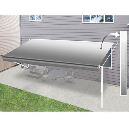 Aleko Retractable Rv Home Patio 12ft W X 8ft D Awning