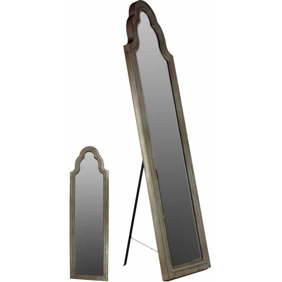 Urban Trends Collection: Wood Cheval Mirror, Natural Wood Finish, Brown by Urban Trends Collection