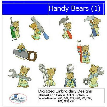 Threadart Machine Embroidery Designs Handy Bears(1) CD