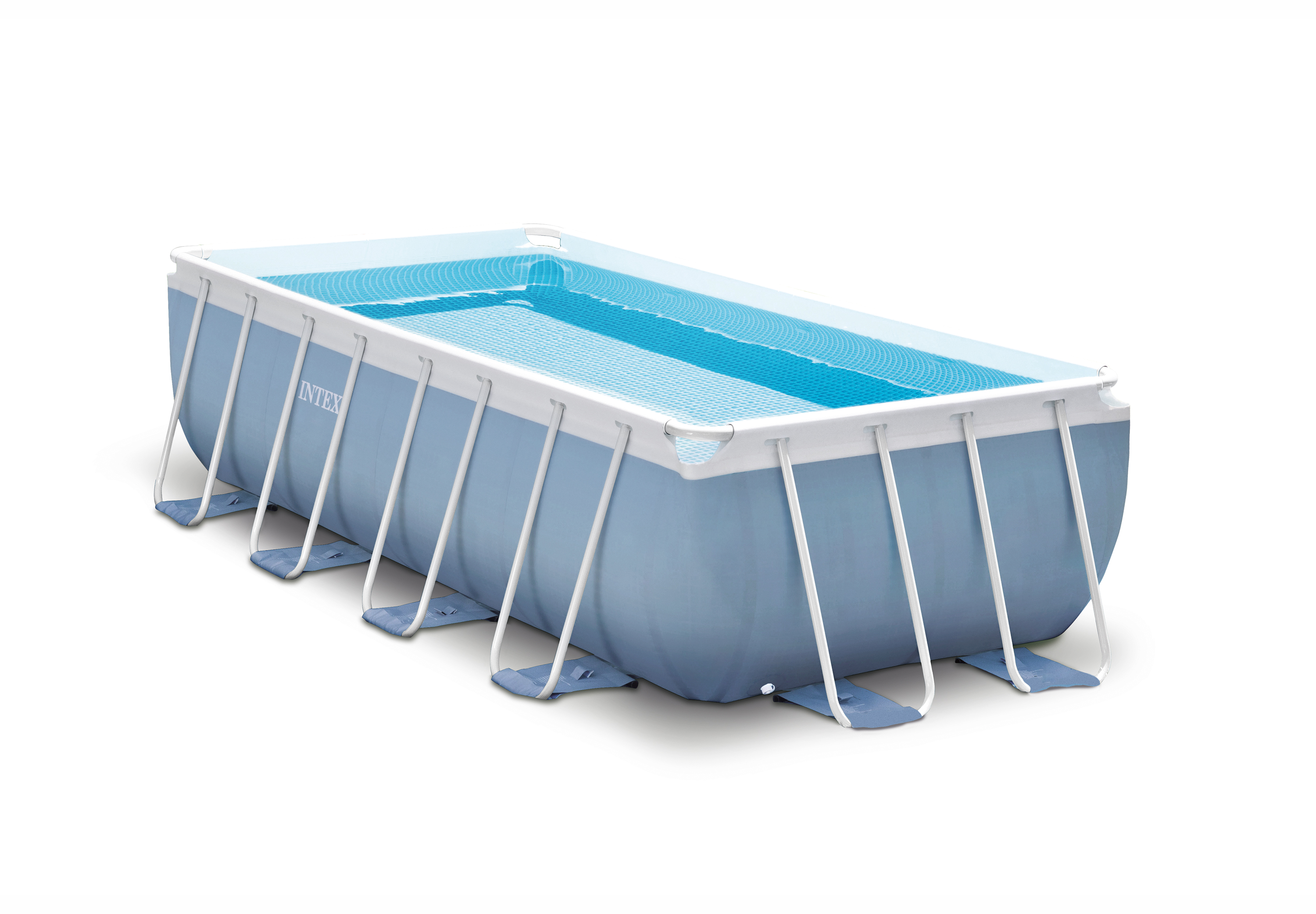 Intex 16 Feet x 8 Feet x 42 Inches Prism Frame Rectangular Swimming Pool Set by Intex