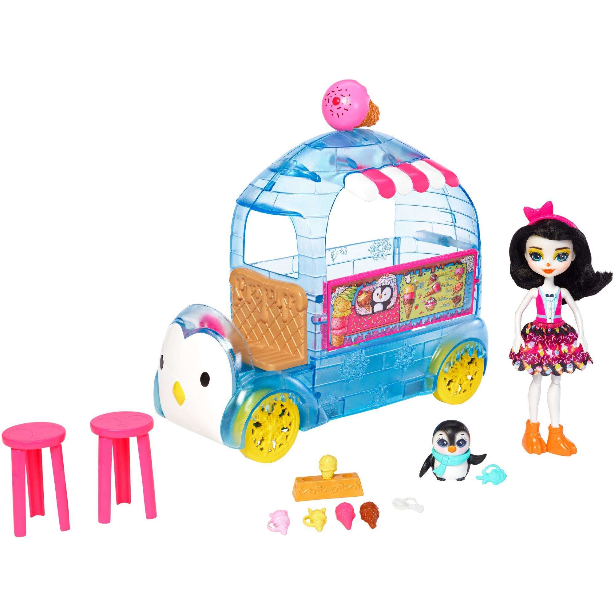 Enchantimals Wheel Frozen Treats Preena Penguin Doll & Playset by Mattel