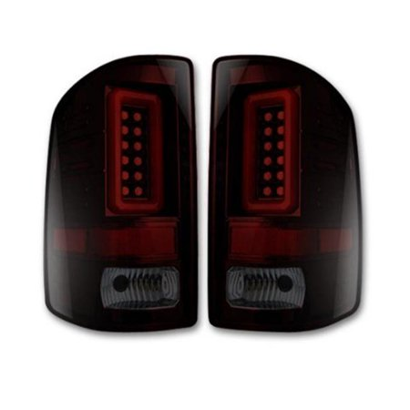 RECON 264298BK GMC Sierra For 16-17 1500/2500/3500 OLED TAIL LIGHTS Smoked Lens Guide Tail Light Lens