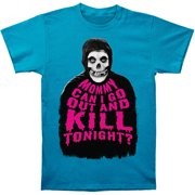 Misfits Men's  ...Kill Tonight? Slim Fit T-shirt Turquoise