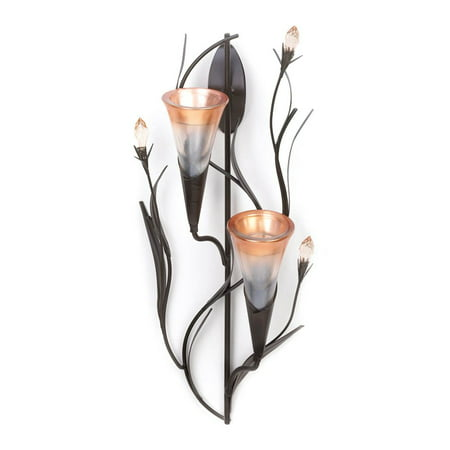 Wall Sconces Candle Holders Modern Flower Decor Sold By Case Pack Of 12