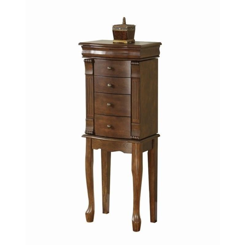Powell Furniture Louis Philippe Jewelry Armoire, Walnut