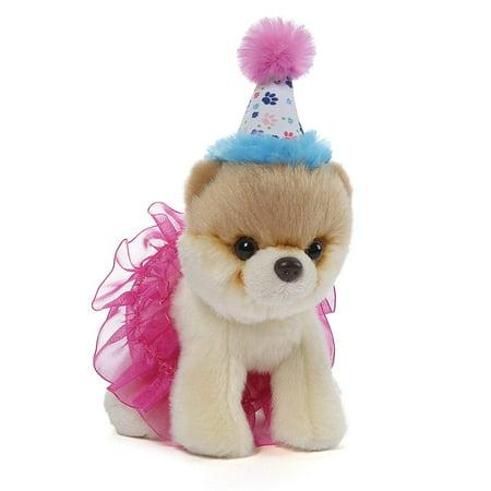 Itty Bitty Boo #027 Birthday Tutu Dog Stuffed Animal Plush, 5
