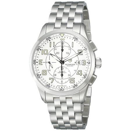 Airboss Mechanical Automatic Chronograph Steel Mens Watch Date 241621 Automatic Chronograph Swiss Wrist Watch