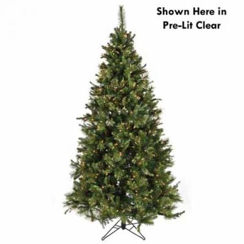 Twelve25 TWE96283 Tree Slim PE Nordmann Fir Blue 250 Multi-Colored Lights 484 Tips 33in Diameter 4.5