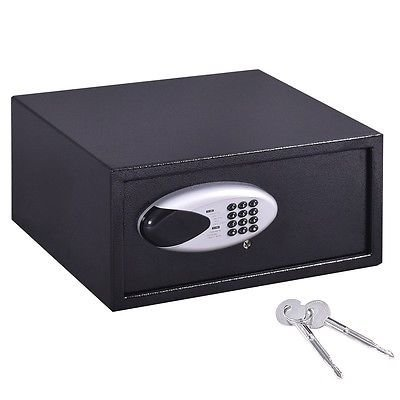 "17"" Digital Keypad Depository Safe Security Box Home Hotel Jewelry Cash Black thumbnail"