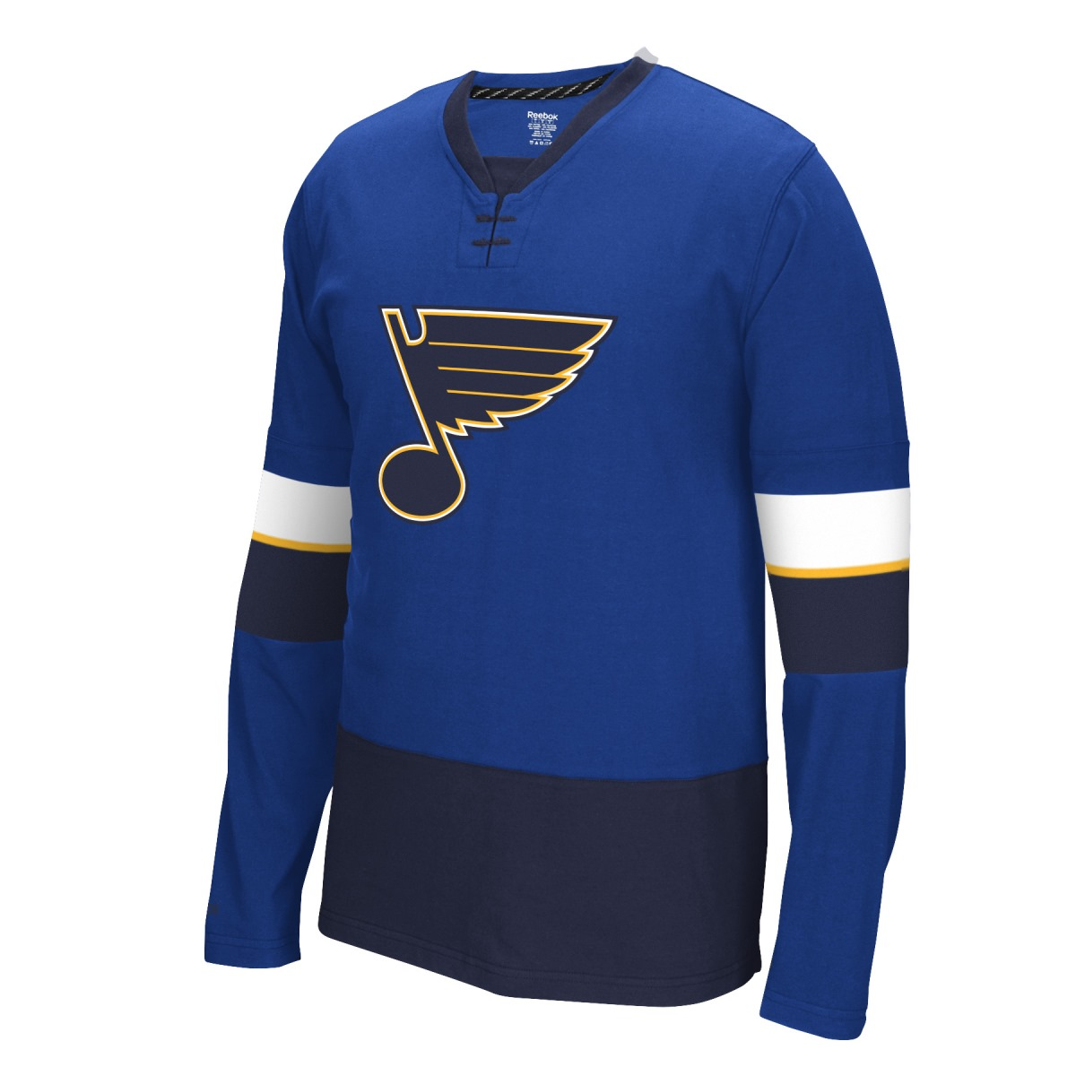 "St. Louis Blues Reebok NHL ""Face Off"" Long Sleeve Jersey Shirt"